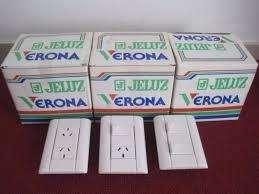 TAPA JELUZ CON TOMA O TECLA 60 Pesos / ROLLOS CABLE X 100MT 560 Pesos / MATERIALES ELECTRICOS / ENVIOS LA PLATA S/C