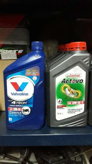 Aceites Castrol Y Valvoline
