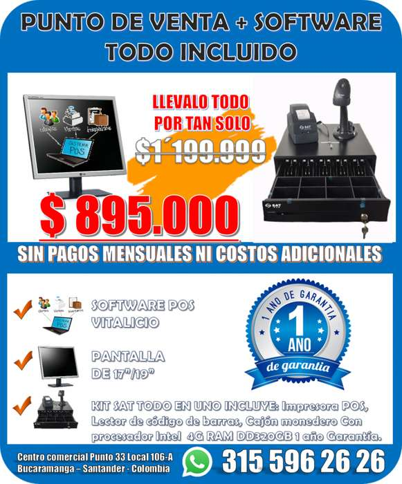 PUNTO DE <strong>venta</strong> CON SOFTWARE POS TODO INCLUIDO SIN COSTOS ADICIONALES LISTO PARA USAR