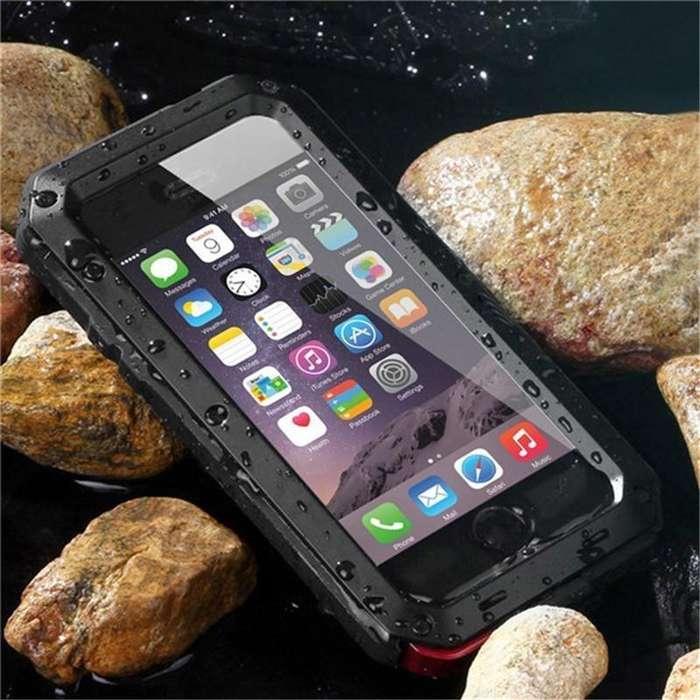 Estuche Antigolpe iPhone 6 7 8 Plus X Samsung S7 edge S8 S9 Plus Note 8 Case Shockproof Aluminio Caucho