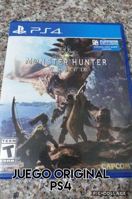 juego original monster hunter world fisico precio fijo