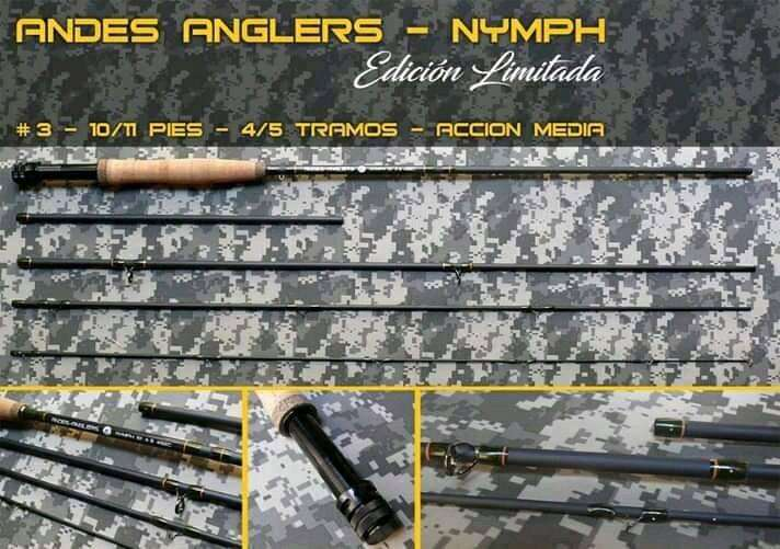 Caña de pesca con mosca ideal pesca con ninfas