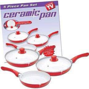 Envio Gratis Juego de Sartenes Ceramic Pan 5 piezas