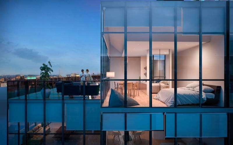 Departamento 1 1/2 ambientes al Contrafrente con terraza privada de 35m2 en venta
