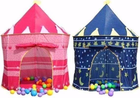Carpa Castillo Infantil Princesas Y Muñecas Y Azul Niño