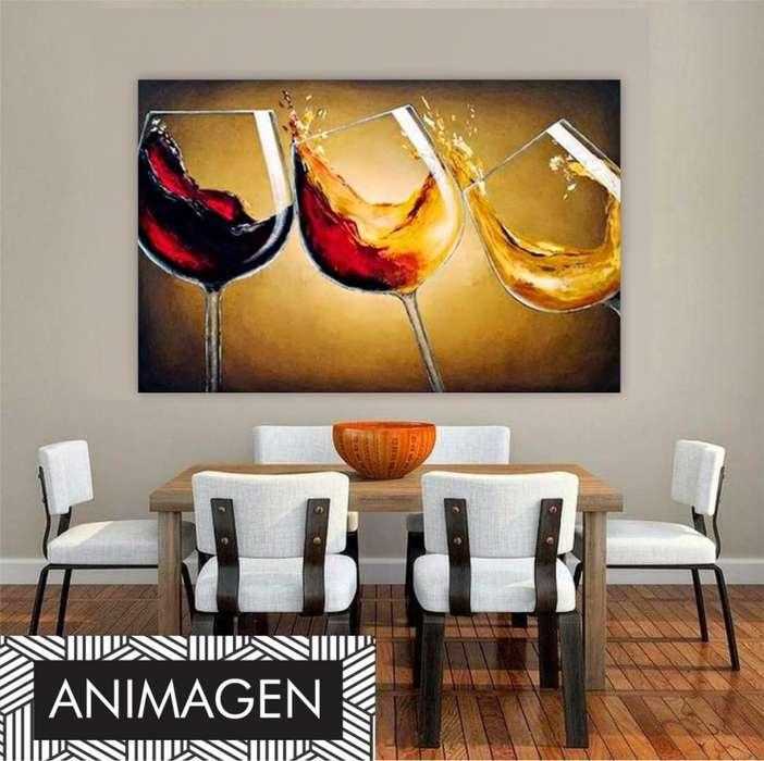 Cuadro decorativo de copas de vino 4183
