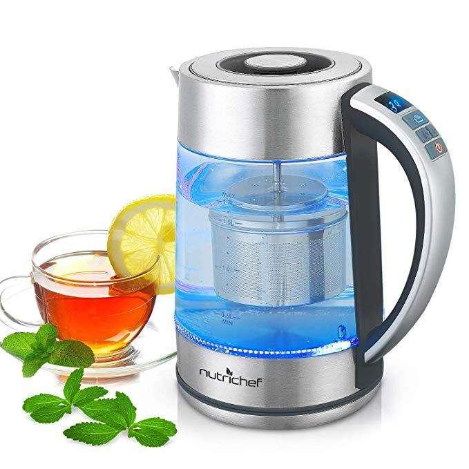 Hervidor Calentador De Agua De Agua De Nutrichef 1.7 Litros