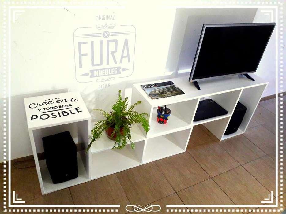 Mueble Rack para Tv. Madera Pino. Nuevo