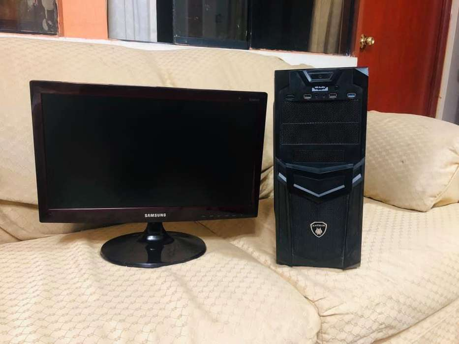 REMATO POTENTE PC GAMER FX 6300 AMD MAS MONITOR SAMSUNG 20.5'', DOTA2, FORTNITE,FREE FIRE.