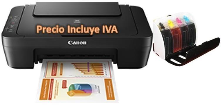 Impresora Canon E402 Mg2510 E401 Mg2522 MG2410 Con Sistema De Tinta Continua PRECIO INCLUYE IVA ENTREGA A DOMICILIO