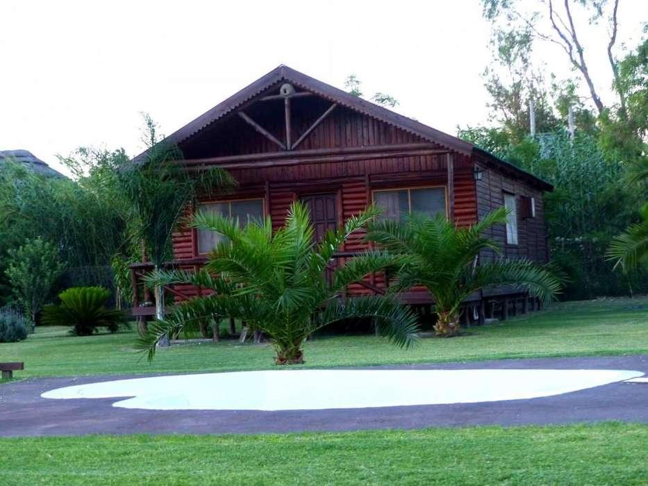 gq96 - Cabaña para 2 a 9 personas con pileta y cochera en Miramar