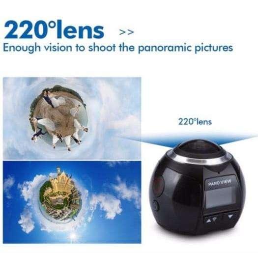 Cámara Panoramica 360 Grados Full Hd