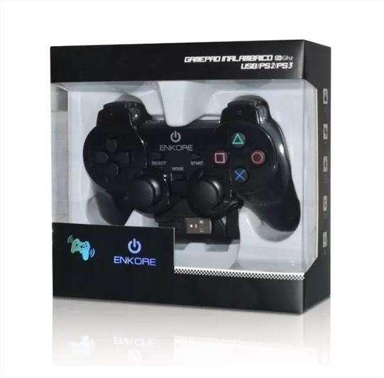 Mando Gamepad Inalanbrico Enkore Wifi Pc Ps2 Ps3 12 Botones (1619)