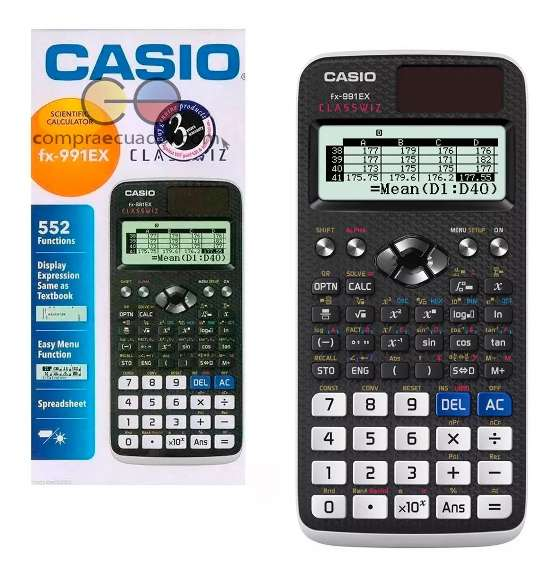 Casio Calculadora Científica 552 Funciones Fx-991ex Bi