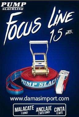 Slackline Focus Pump 15 metros
