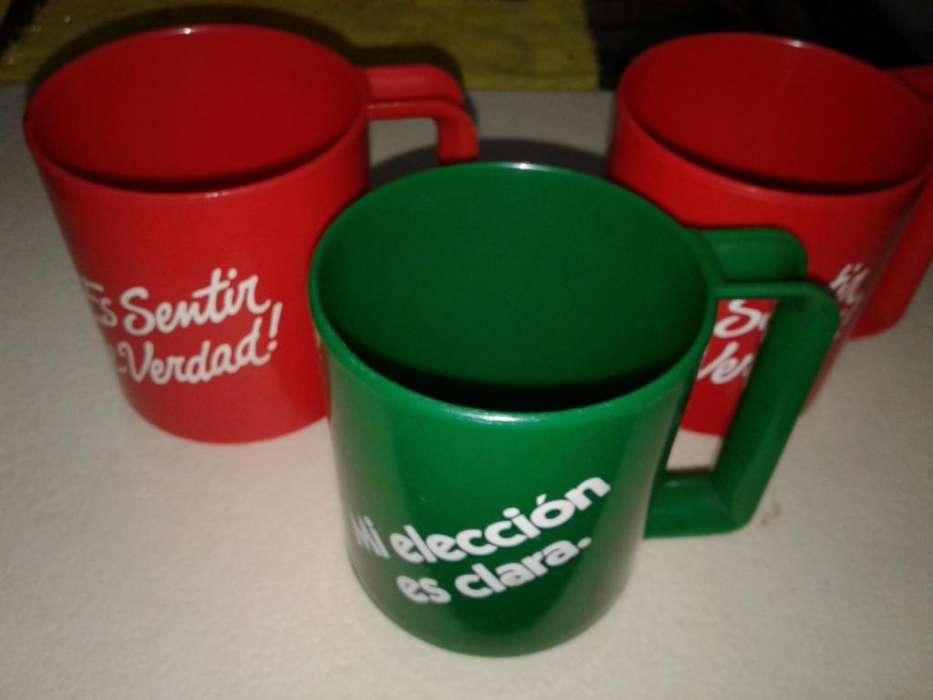 lote de 3 vasos tazas de coca cola y sprite retro