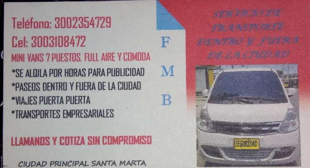 Minivans para Publicidad, Viajes, Paseos