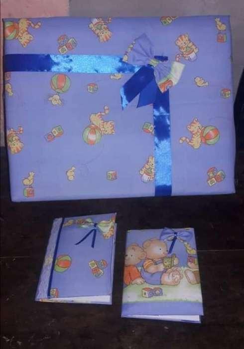 Caja de Bebe Y Cuaderno Forrado