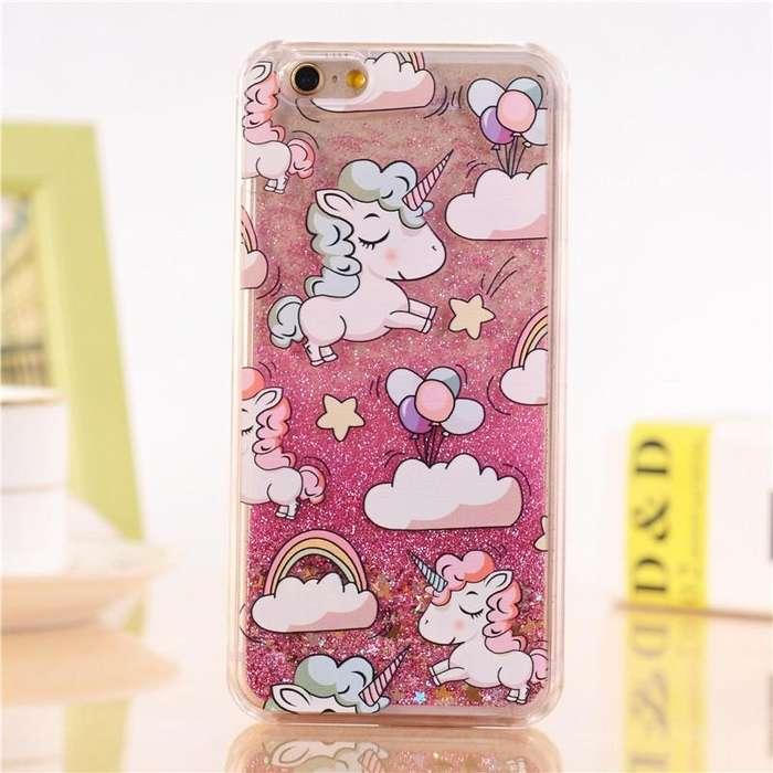 Case / Carcasa para Celular iPhone 6/6S/7/7 Plus Case Glitter Unicornio