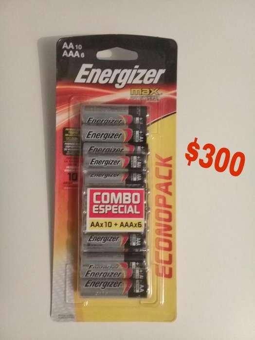 Oferta Combo Pilas Energizer