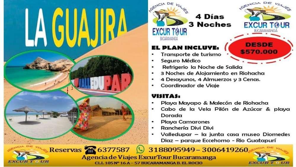 Tour Guajira Salida de Bucaramanga