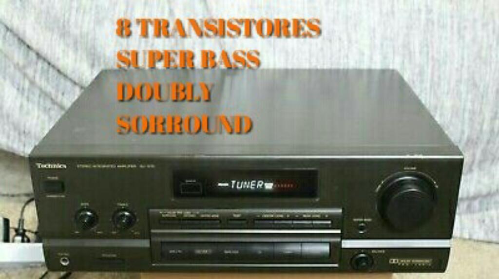 Amplificador Potente Technics 8 Transist