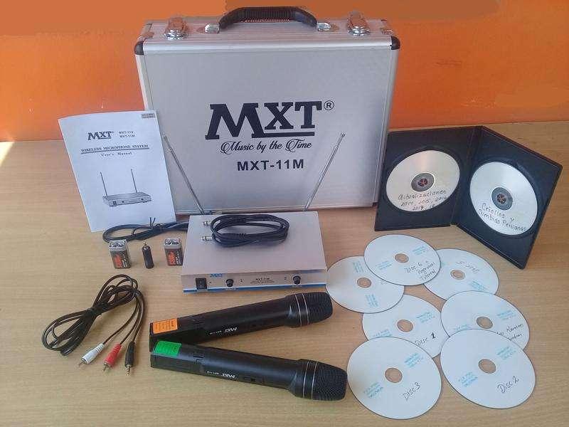 Microfonos Inalambricos MXT Karaoke Profesional 4800, excelente Calidad Sonido Real