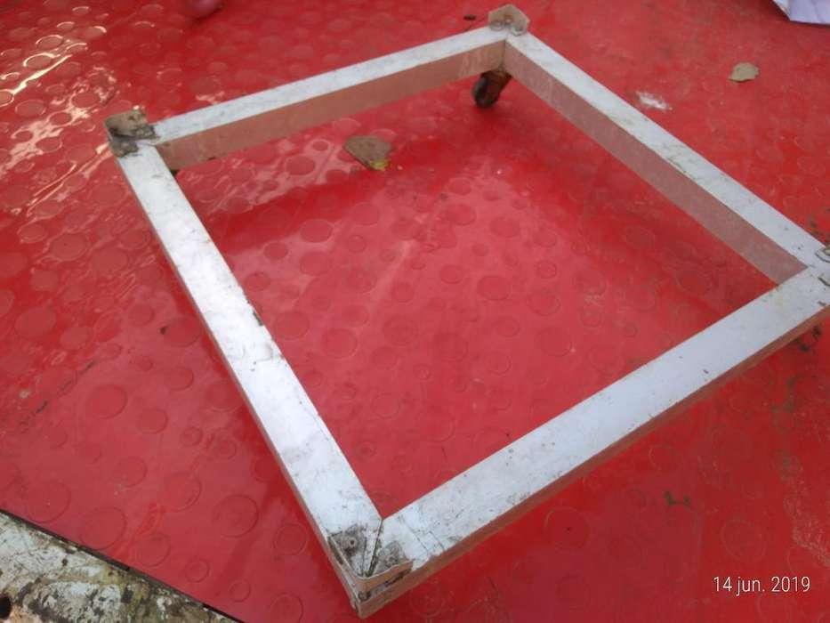 Base en Aluminio para Estufa con Ruedas