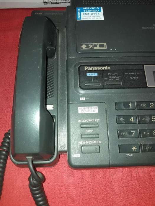 <strong>fax</strong> con Telefono Panasonic