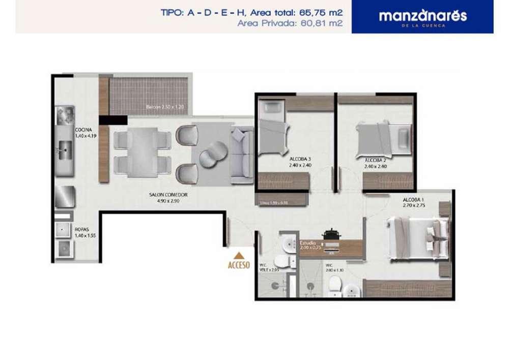 Residencial Sobre <strong>plano</strong>s Envigado Manzanares de la cuenca Junio 2020