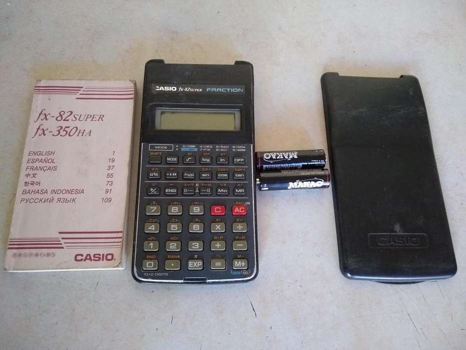 <strong>calculadora</strong> Casio Fx 82super Y Fx 350HA fraction CON MANUAL