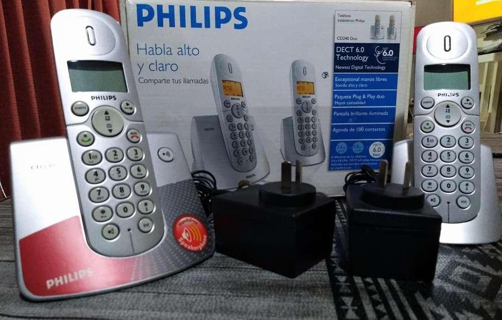 Teléfono Inalámbrico Philips Duo