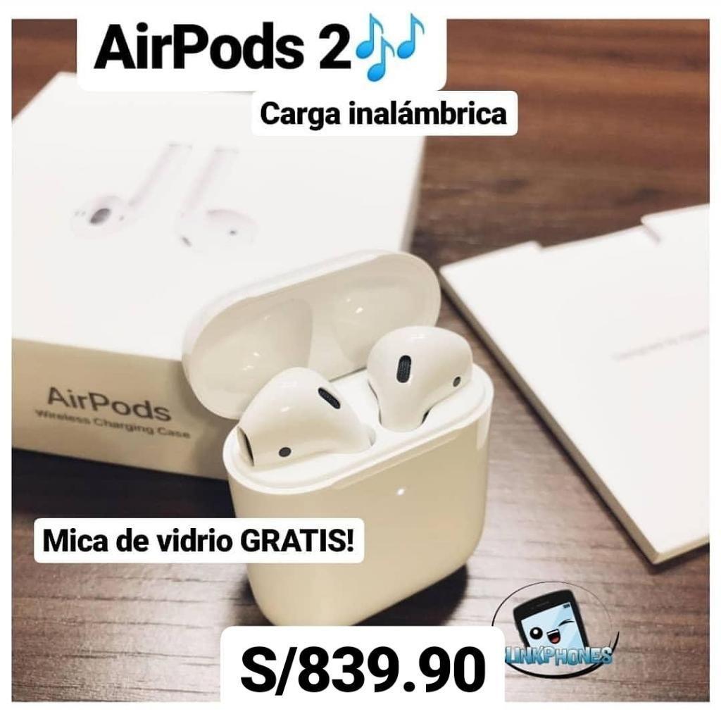 Airpods 2 con Carga Inalámbrica