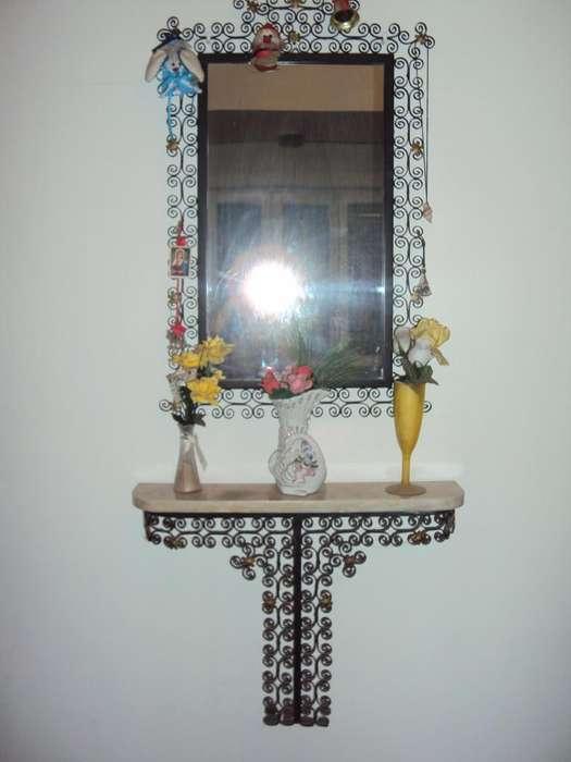 antiguo dressoire espejo hierro marmol como nuevo