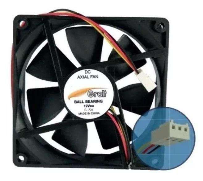 Turbina Cooler Gralf Dc 12v 40x10 Cm 1.5 Pulgadas 0.15a Buje
