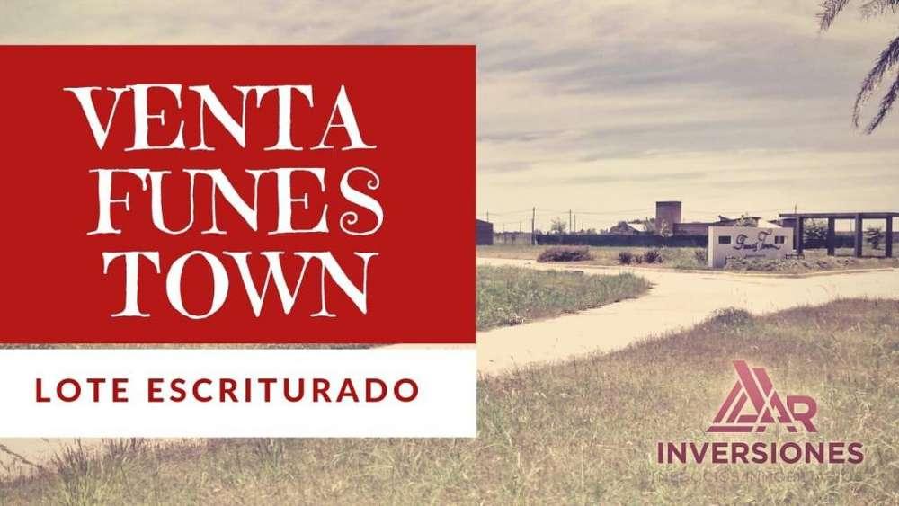VENTA LOTE EN FUNES TOWN - ESCRITURADO - ESQUINA