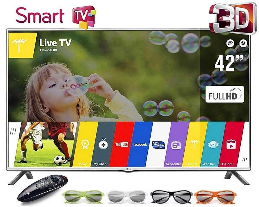 TV Led LG 3D 42 Webos 2.1 Smart Tv 42lb70 Wifi 4 Lentes