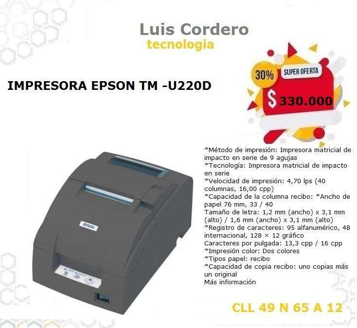 IMPRESORA EPSON TM-U22OD