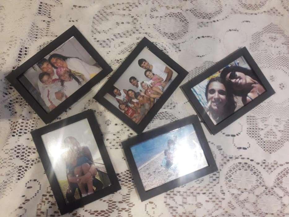 Mira que Promo!!! 5 Portaretratos De Pared Pintados Y Con Vidrio !!!!