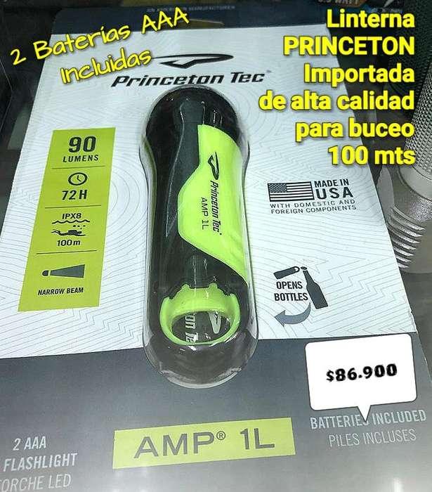 LINTERNA BUCEO PEQUEÑA PRINCETON IMPORTADA