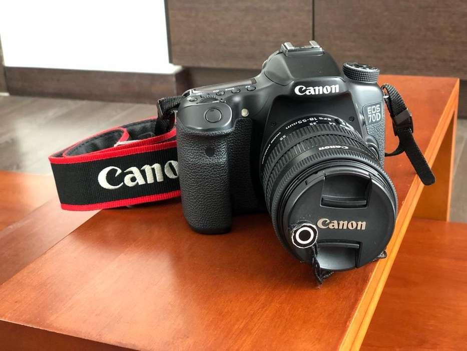 Vendo Canon Eos 70D y accesorios