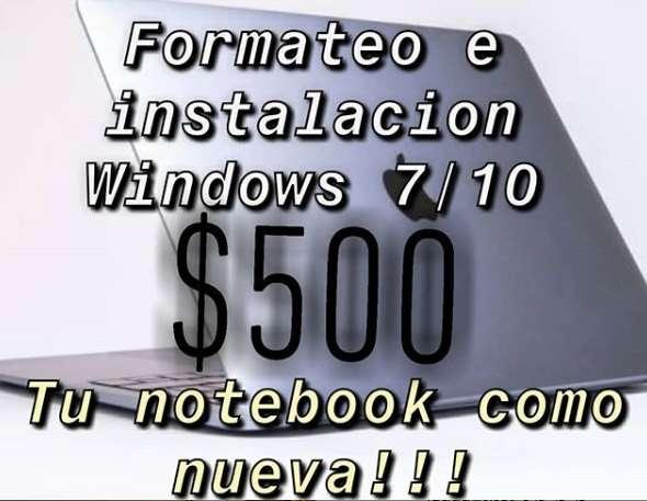 Formateo de Computadoras 500 pesos