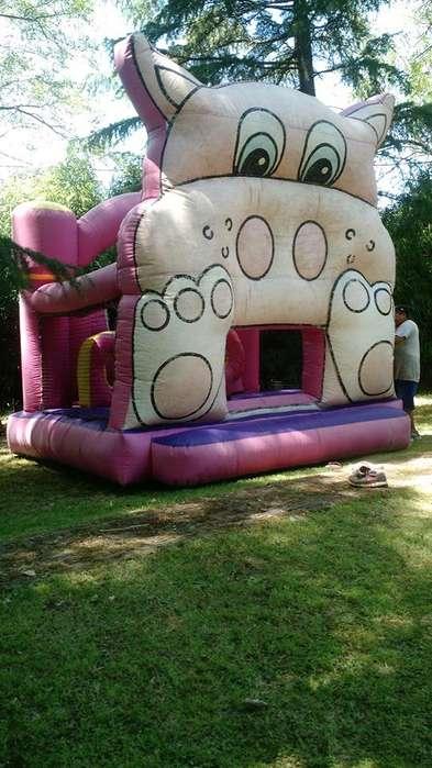 Castillo inflable ¡ la chancha loca