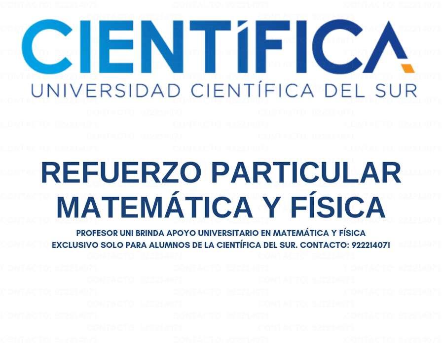 A TODO NIVEL CLASES DE MATEMÁTICA Y CIENCIA P/ALUMNOS DE LA CIENTÍFICA DEL SUR. PROFESOR UNI OBJETIVO Y PRACTICO.