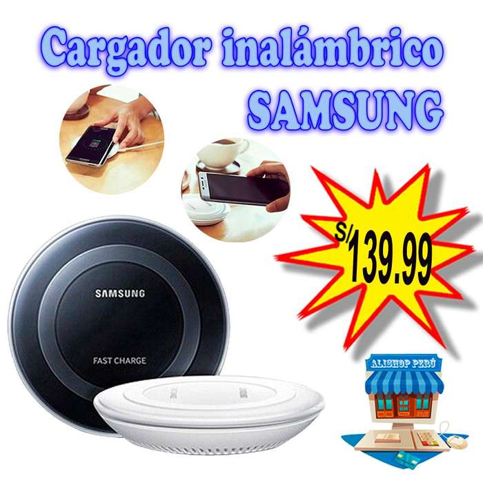 Cargador inalámbrico marca SAMSUNG