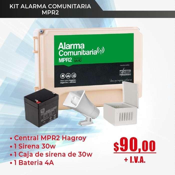 Alarma Comunitaria MPR 2 Alarmas.sirena megafono Seguridad Ciudadana