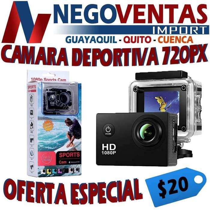 CAMARA GO PRO FULL HD CON ESTUCHE DE AGUA Y ACCESORIOS