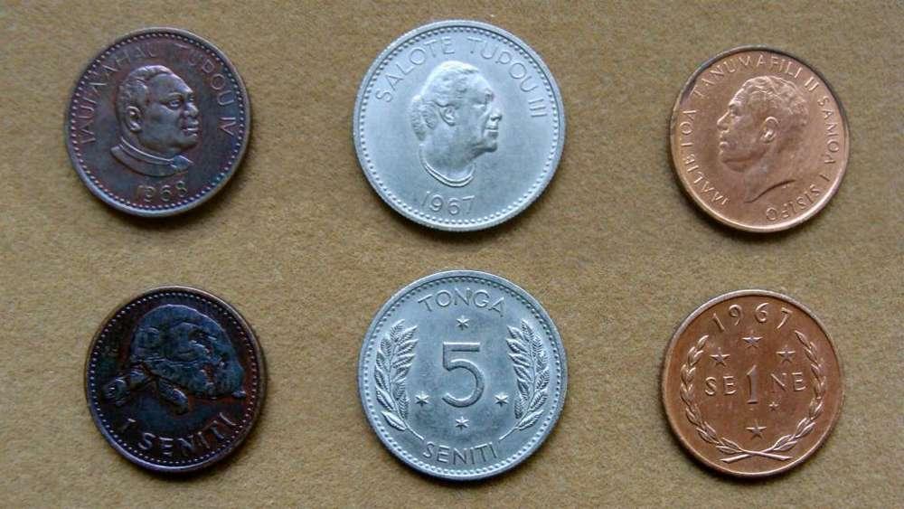 Monedas de 1 seniti Tonga 1968