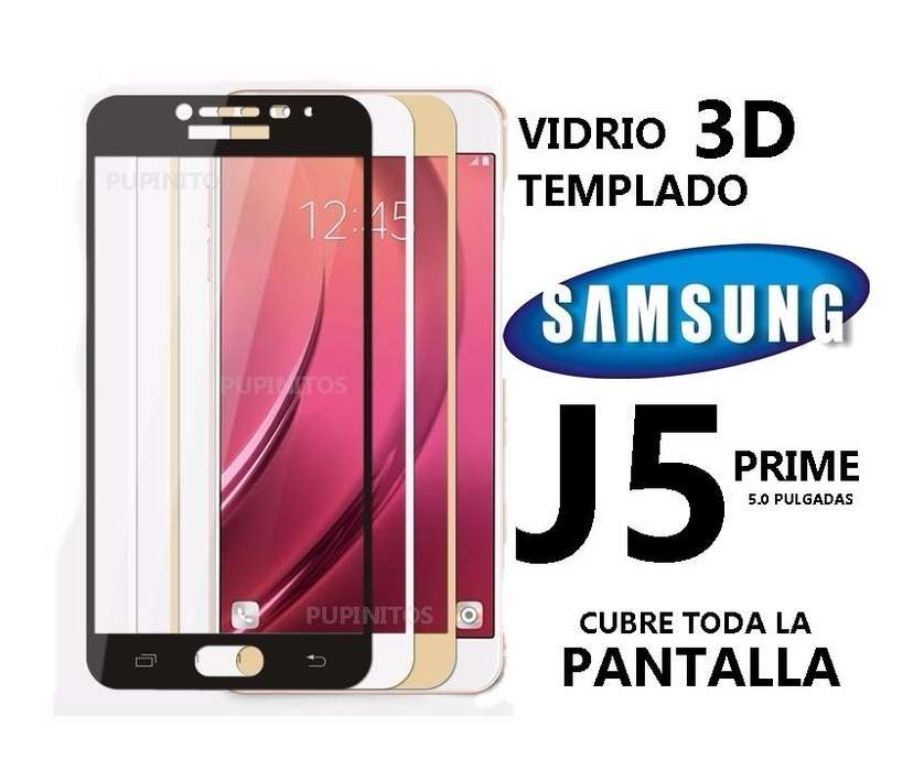 Vidrio Templado 3d Full Cover Samsung J5 Prime Cubre Todo