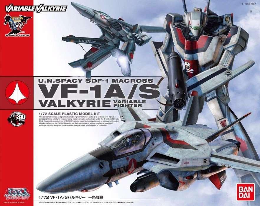 Bandai Macross Robotech 1/72 VF1 A/S Valkyria variable